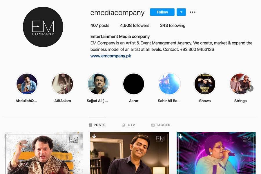 EM Company Instagram