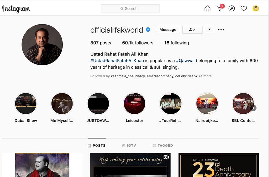 instagram rahat fateh ali khan