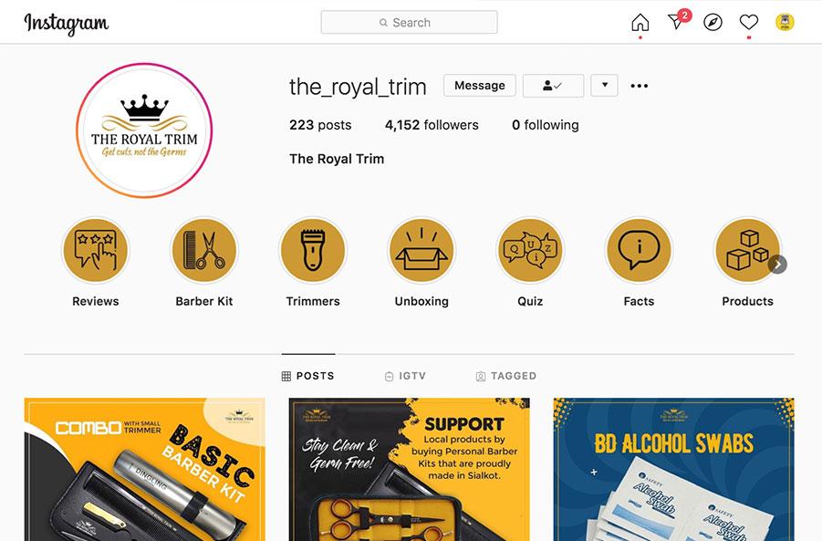 the royal trim instagram