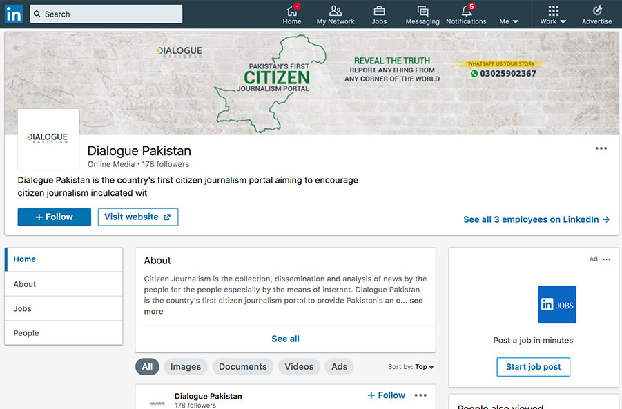linkedin dialogue pakistan