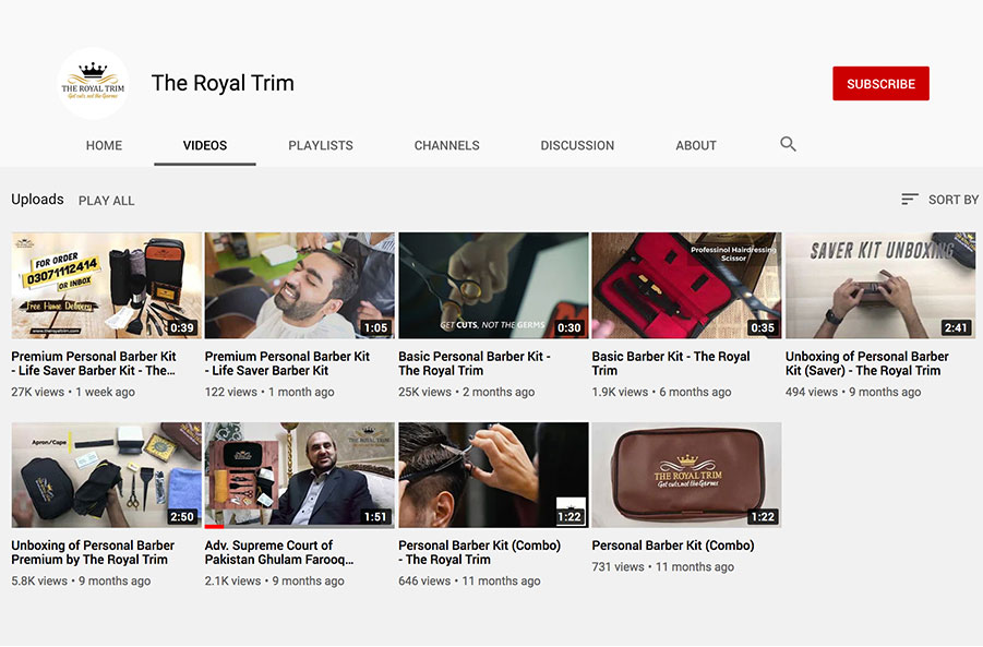 the royal trim youtube